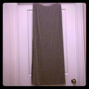 Grey heather maxi skirt